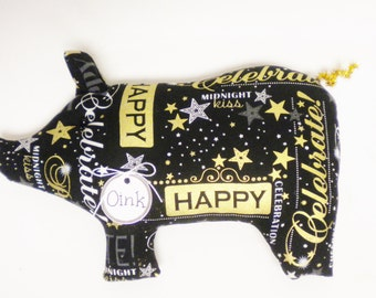 Celebration Pig - Made To Order, New Year Decorations, Primitive New Year's