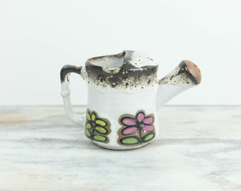 Vintage Stoneware water pail planter