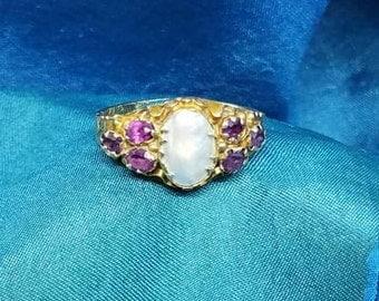 Antique Engagement Ring Gold British Hallmarks