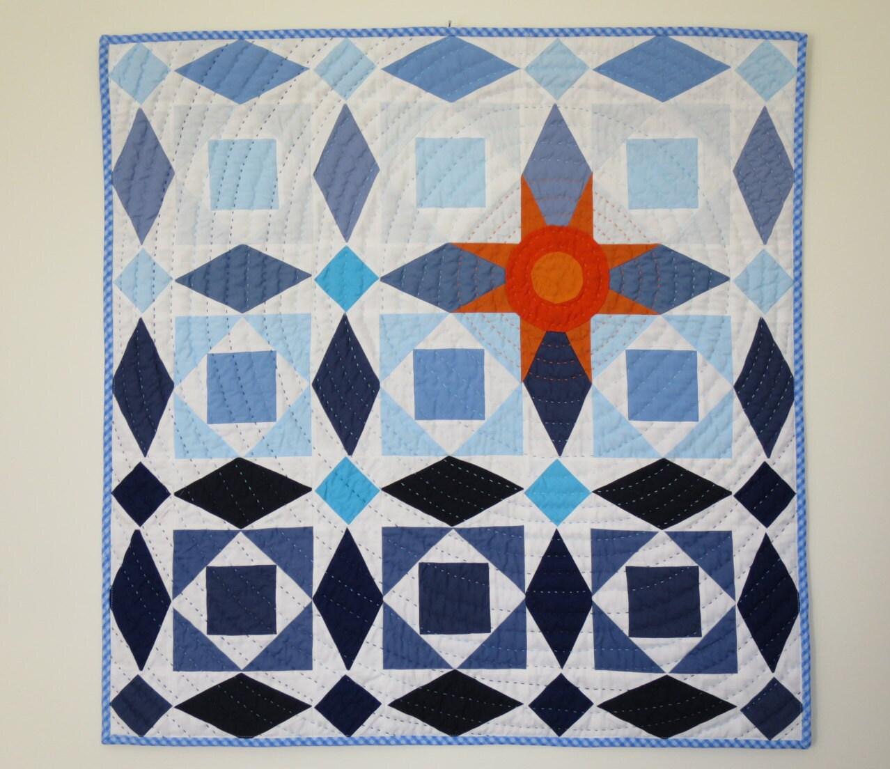 Wall Hanging Fabric Decoration Fiber Art Wall Quilt