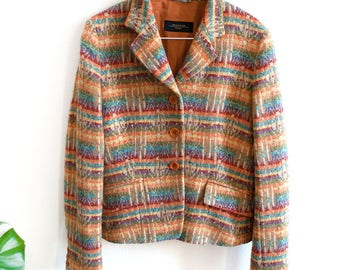 Multicolor wool jacket Max Mara // 90s // M size