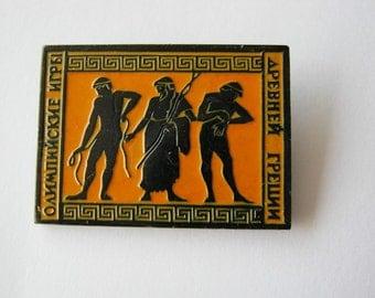 Old  russian decorative pin badge Ancient History