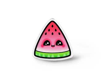 Kawaii Watermelon Pin - Kawaii Pins, Kawaii Food Jewelry, Cute Fruit Brooch, Kawaii Accessories, Fruit Jewelry