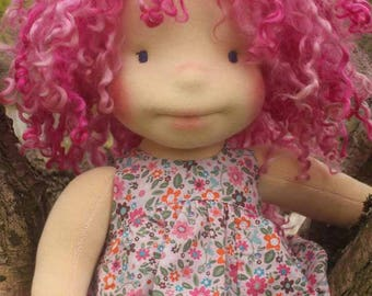 """Waldorf Inspired doll called Rory , 18"""" tall"""