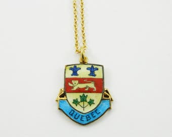 Quebec Necklace - Quebec Jewelry - Canada 150 Necklace