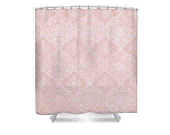 Pink shower curtain   Etsy. Pale Pink Shower Curtain. Home Design Ideas