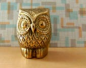 Mid Century Brass Owl/Bird Figurine/Home Decor *Price Includes Domestic Shipping