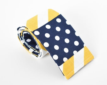 Yellow Chevron and Navy DSLR Camera Strap Cover Nikon Cannon