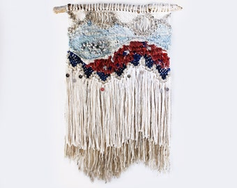 Fringe and Sequins Weaving Woven Wall Hanging
