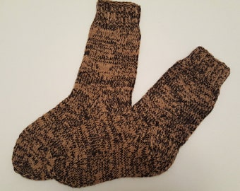 Hand Knitted Wool Socks -  Wool Socks for Men -Mens Socks -Size US 10 - Size EU 43 -Hand Knitted Socks