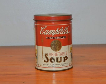 Vintage Campbell's Vegetable Soup can collectible bank