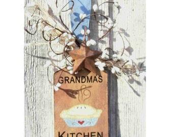 Primitive sm.wooden paddle Grandma's Kitchen