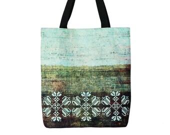 Tote bag - Shopping bag - Shopping tote - Martket bag - Green Handbag - Shoulder bag - Green tote