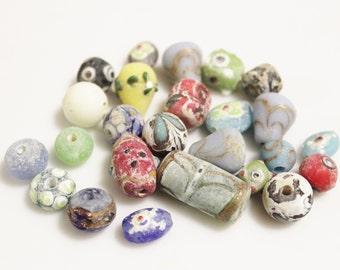 Ancient Roman Glass Beads Replica , Unique Lampwork Beads (ad103)
