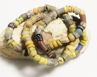Assorted African Beads, Old Ethnic Glass Beads, Jewelry Making Supplies, Rustic Beads (*AJ254*)
