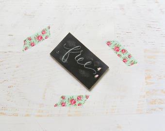 Fridge Magnet, Mini chalkboard, handpainted free, custom chalk board, kitchen decor, refrigerator magnet, handmade gift, locker decorations