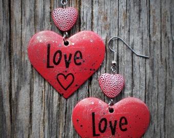 Fun Love Heart Earrings
