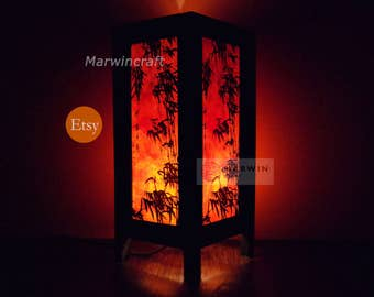 Asian Oriental Dawning Sunset Japanese Zen Art Bedside Floor Table Lamp Desk Paper Light Shades Gift Living Bedroom Furniture Home Decor