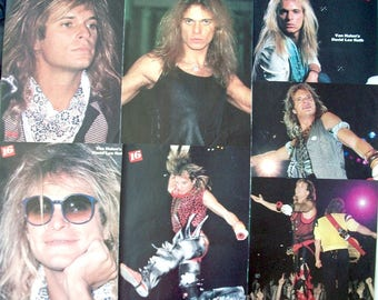 DAVID LEE ROTH ~ Van Halen, Runnin' With The Devil, Jump, Panama, Just A Gigolo, California Girls ~ Color Pin-Ups, Centerfolds frm 1984-1985