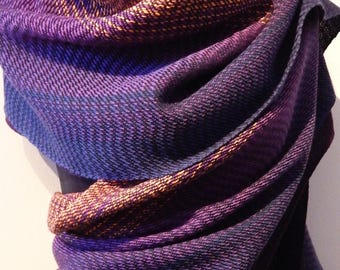 "Handwoven ""Purple Sunset""- Wrap / shawl"