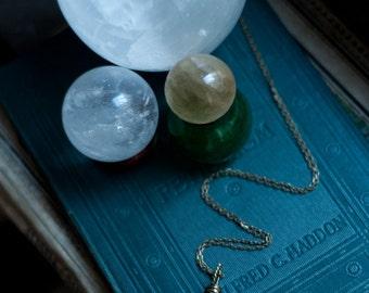 Third eye pendant, Botswana agate bullseye, Evil Eye necklace, magickal talisman, protection amulet, oxidised brass or sterling silver.