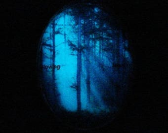 Enchanted Forest Necklace Glow In The Dark Pendant Jewelry