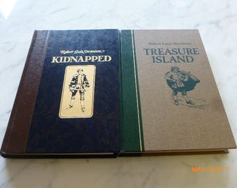 Kidnapped The Adventures of David Balfour & Treasure Island by Robert Louis Stevenson HC 1986 1987 Lot of 2 Books Reader's Digest
