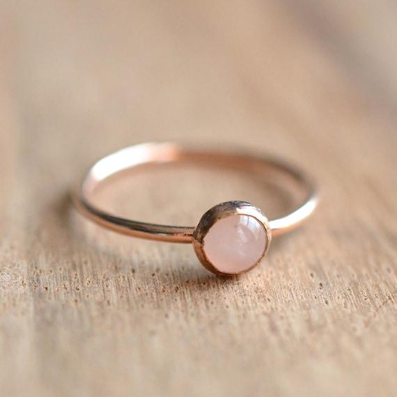 14k Rose Gold Filled Rose Quartz Ring Rose Gold Rose Quartz