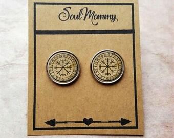 Vegvisir Earrings - Viking Compass Earrings