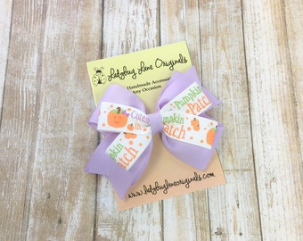 Pumpkin Hair Bow - Hair Bows for Girls - First Halloween Hair Bow - Cutest Pumpkin in the Patch - Pumpkin Patch Bow - Girls Hair Bow