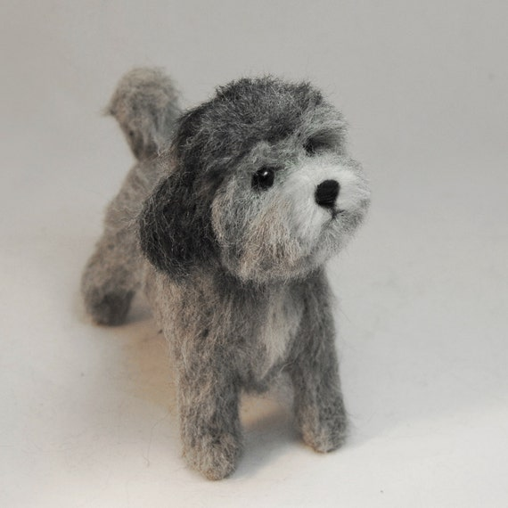 Custom Made Pet Sculpture, Needle Felted Dog, Lhasa Apso, Havanese or Maltese Dog, Shih Tzu or any other breed - made to order