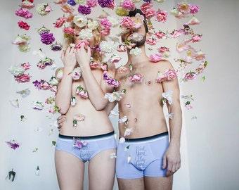 Travail lilas jouer dur dur Couples lingerie ensemble - cadeau drôle et romantique pour mariage, anniversaire - cadeau pour les joueurs et les joueurs