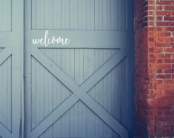 Welcome Front Door Decal, Door Vinyl, House letters, Fixer Upper, Joanna Gaines, Door Decal, Entryway Decor, Welcome, Farmhouse Decor, Waco