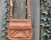Fossil Leather Crossbody Organizer Shoulder Bag