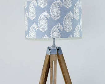 Blue persian paisley lampshade