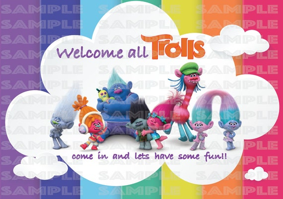 Trolls Welcome Door Banner