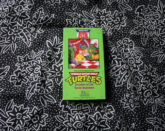 Teenage Mutant Ninja Turtles 90s Cartoon VHS Tape. Invasion Of The Turtle Snatchers Rare 90s TMNT Cartoon Burger King Kids Club VHS Tape.
