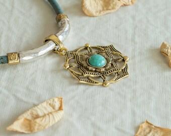 Portuguese Statement Necklace, Cork Art, Folk Statement Necklace, Pendants, Portuguese Jewelry, Eco-friendly, Cork