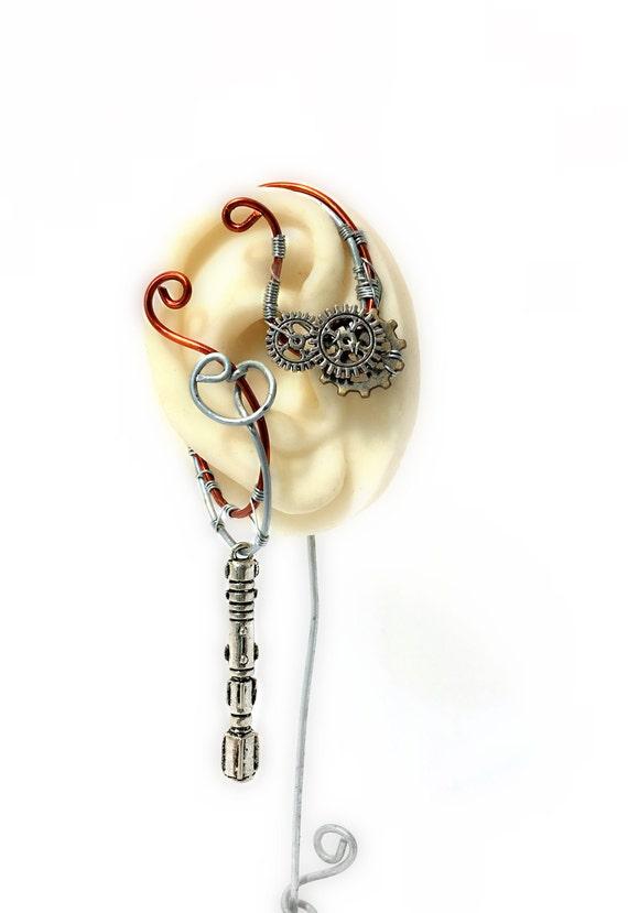 Steampunk Sonic Screwdriver Ear Wrap - Right Ear