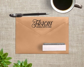 Fragile Stamp - Handle with Care Stamp - Shipping Stamp - Business Stamp