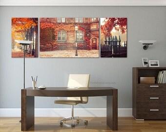 Princeton Autumn landscape photography,rustic decor, autumn decor, personalized home decor, large wall art, Bathroom Decor, red autumn