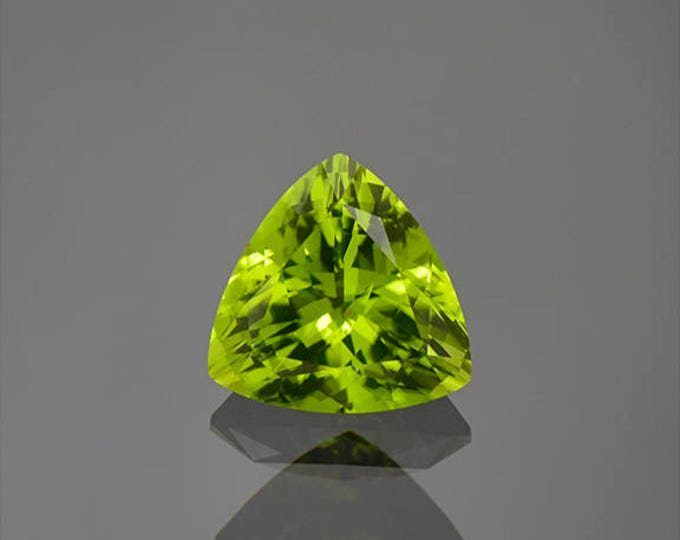 UPRISING SALE! Gorgeous Lime Green Peridot Trillion Gemstone from Ethiopia 2.61 cts.