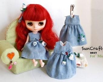 Handmade  Middie Blythe Dress by SunCrafte Spring 2017