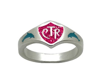 Dolphin CTR Choose The Right Ring Sterling Silver