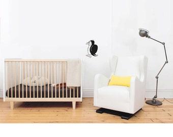 Nursery penguin decal, kids room sticker, bird wall decal