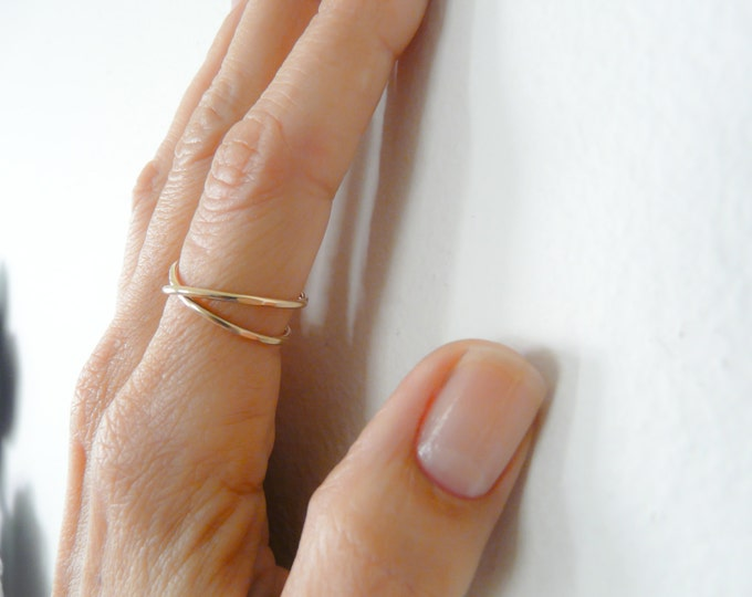 Gold Filled Infinity Adjustable Ring For Women Jewelry For Her Under 25 Handmade Rings
