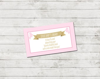 Book Request - Storybook Baby Shower Invitation - Book Baby Shower - Storybook Theme - Pink and Gold - INSTANT DOWNLOAD - Printable