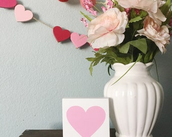 Heart mini wood sign - Valentine's Day Sign - Valentine's Day Decor - Wedding Decor - Love Heart Sign