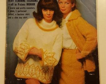 Vintage patons knitting pattern book