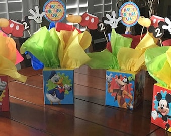 Mickey Mouse Centerpiece, Mickey Mouse Party, Mickey Mouse Birthday, Mickey Mouse Supplies, Mickey Mouse Decorations- YOU PRINT